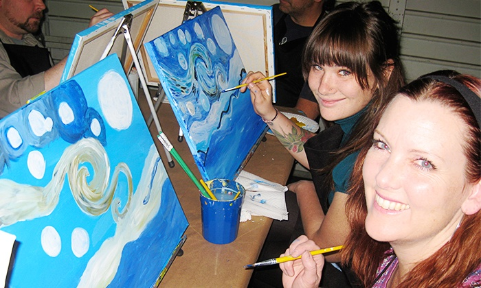 Otterspace Arts - Claremont Craft Ales: Three-Hour Painting Class with Drinks for One or Two from Otterspace Arts (Up to 55% Off)