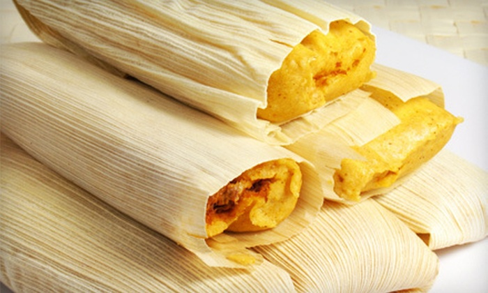 Badlands Tacos - Ramsey: Three, Two, or One Dozen Tamales with Salsa and Sour Cream at Badlands Tacos (Up to 57% Off)
