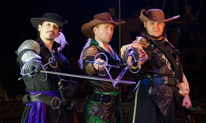 """The Three Musketeers - The Three Musketeers: Dinner Show Admission for One to """"The Three Musketeers: Voyage Home"""" (Up to 71% Off). Two Options Available."""