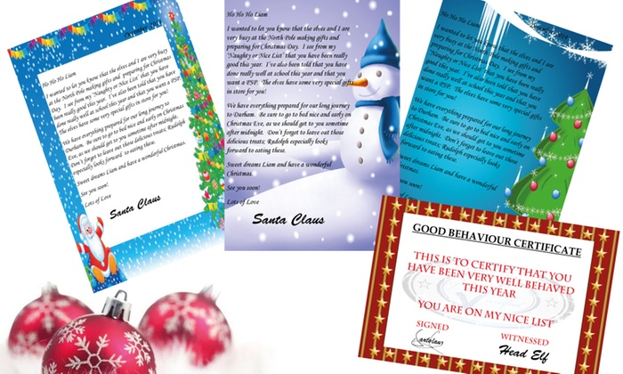 personalised letter from santa groupon goods