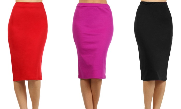 10b842819 Women's Plus Size Pencil Skirt | Groupon Goods