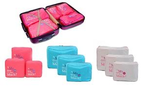 Elemental Lifestyle Three or Five-Piece Luggage Organiser Set