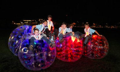 Zorb Football Game with Glow-in-the-Dark Option for Up to 15 People with Krashball, Choice of Location