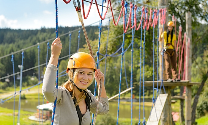 Thrillsville Aerial Adventure Park - Slade: Aerial-Adventure-Park Visit for One, Two, Four, or Six to Thrillsville Aerial Adventure Park (Up to 66% Off)
