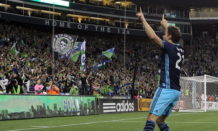 Seattle Sounders FC - CenturyLink Field: Seattle Sounders FC Soccer Match with Drawstring Bag on Saturday, April 2, at 7 p.m.