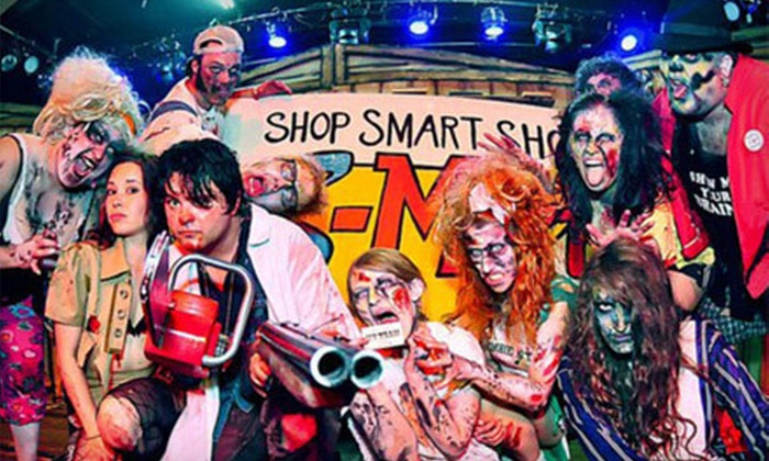 """""""Evil Dead: The Musical"""" - Scream Country Haunted Forest: """"Evil Dead: The Musical"""" for Two or Four at Boomstick Theater (Half Off). Four Options Available."""