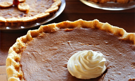 Two 9-Inch Cream or Pumpkin Pies or One Dozen Mini Pies at The Cupcake Shoppe (Up to 42% Off)