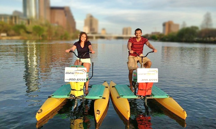 Austin Water Bikes - Hyatt Regency Austin: $15 for a One-Hour Sunset Water-Bike Rental from Austin Water Bikes ($25 Value)