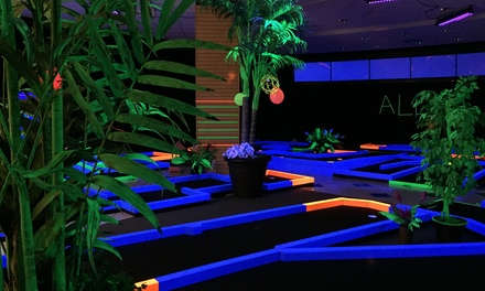 Three Rounds of Indoor Glow Golf for Two, Four, or Six at Aloha Mini Glow Golf (Up to 50% Off)