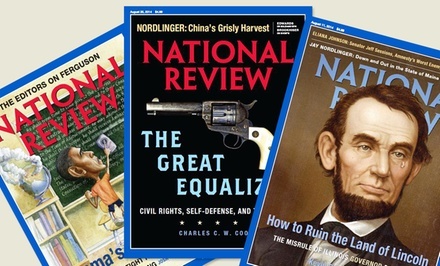 1-Year Subscription to National Review Magazine (24 Issues)