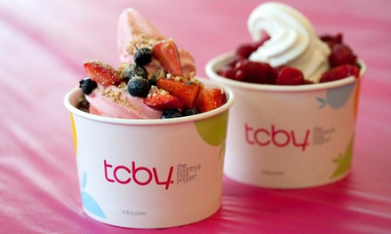 Yogurt Cake or Three Groupons, Each Good for $10 Worth of Frozen Yogurt at TCBY (Up to 50% Off)