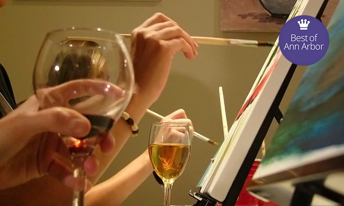 Paint and Pour - Multiple Locations: $19.99 for Two-Hour Painting Class for One at any Paint and Pour location ($35 Value)