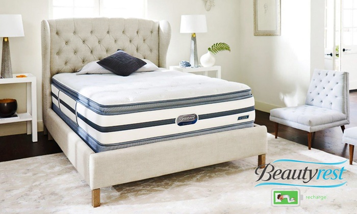 Simmons Beautyrest Recharge Sunset Oaks Plush Pillow-Top Mattress Set: Hot Buy: Simmons Beautyrest Recharge Mattress Set from $499.99–$849.99. Free White Glove Delivery. 20-Year Warranty.