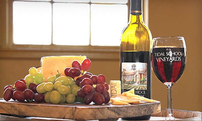 Tidal School Winery and Vineyard - Tidal School Vineyards: Winery Experience with Pairings and Souvenir Glasses for 2, 4, or 10 at Tidal School Winery and Vineyard (Up to 51% Off)