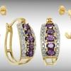 Up to 84% Off Gemstone Hoop Earrings