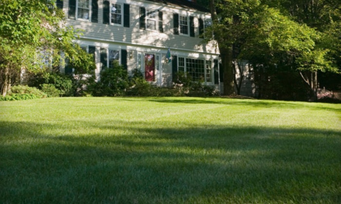 Theodore Landscaping - Wolfpit: $27 for a Lawn-Care Package with Weed and Insect Control and Lawn Fertilization from Theodore Landscaping ($55 Value)