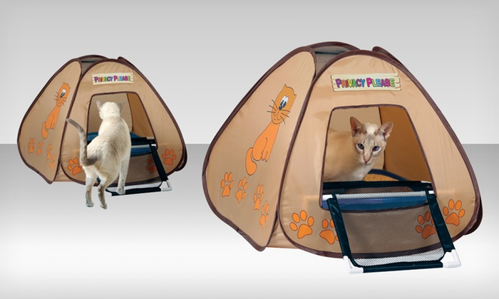 Pet Store Cat Litter-Box Privacy Tent with Mesh R& Pet Store Cat Litter & Cat Litter-Box Privacy Tent | Groupon Goods