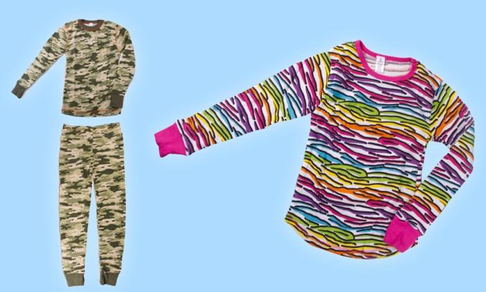 Kids' Thermal Pajama Sets : Boys' and Girls' Thermal Pajama Sets. Free Returns.