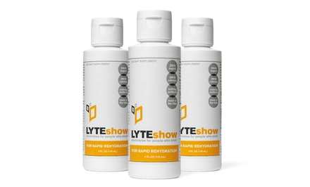 1 or 3 packs of Lyteshow - Rapid Rehydration for Hangovers.