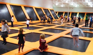 AirTime Trampoline & Game Park: $16 for a One-Hour Trampoline Session for Two at AirTime Trampoline & Game Park (Up to 33% Off)