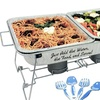Party Pack 10-Piece Buffet Set with Collapsible Rack