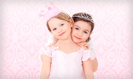 Princess Dressed Up Party for Six or Glitzy Glam Diva Party for Eight at Super Diva Kid's Spa (Up to 55% Off)