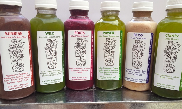 Karmic Fix: One- or Three-Day Juice Cleanse from Karmic Fix (47% Off)