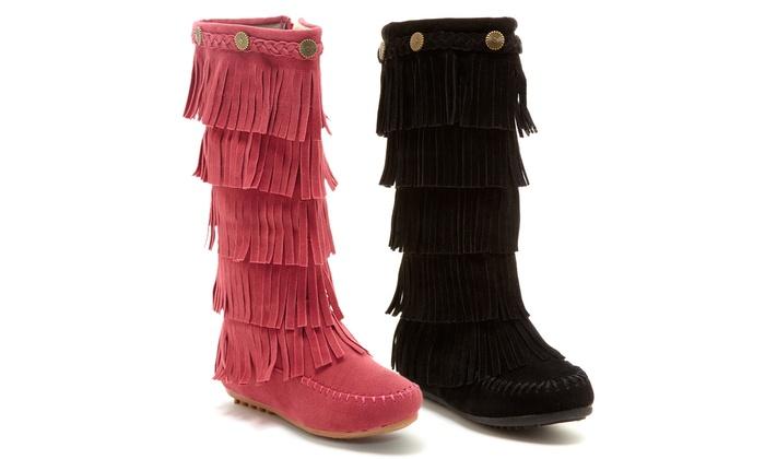 Shoes of Soul Girls' Fringe Boots (Sizes 5 & 11) | Groupon