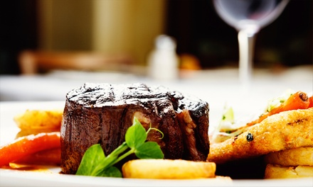 Steak Meal with a Glass of Wine for Two or Four at The Fox and Castle