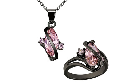 2.50 CTTW Marquise Pink Sapphire Pendant or Ring