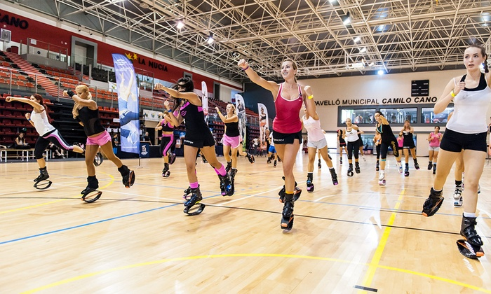 Risque Fitness - Toronto: Three or Six Kangoo Jump Cardio Classes with Boot Rental at Risque Fitness (Up to 67% Off)