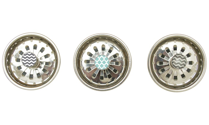Set Of 3 Sink Strainers Groupon Goods
