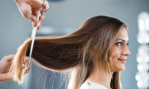 Nolan B Studio: One or Three Haircuts with Blow-Dry and Style at Nolan B Studio (Up to 63% Off)