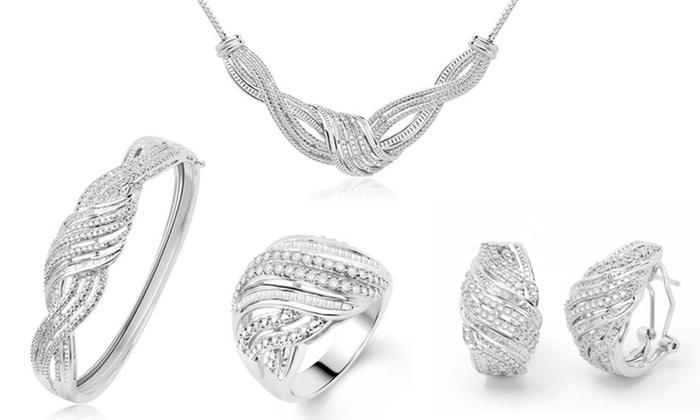 2 CTTW 4-Piece Diamond Jewelry Set: 2 CTTW 4-Piece Diamond Jewelry Set. Free Returns.