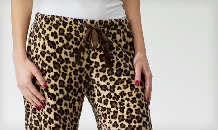 e6fd23b2fb $8.99 for One Pair of Women's Animal-Print Fleece Pajama Pants ($30 List  Price). Three Sizes Available.