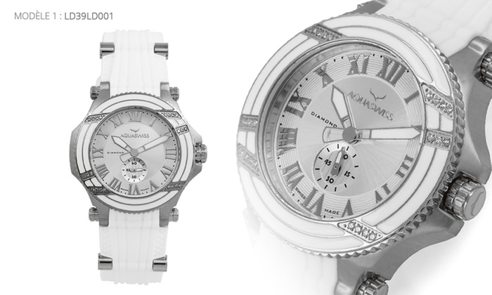 dessins attrayants emballage fort achats Montres Aquaswiss diamants | Groupon Shopping