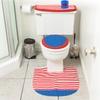 4-Piece Patriotic Bathroom Set with Contour Rug