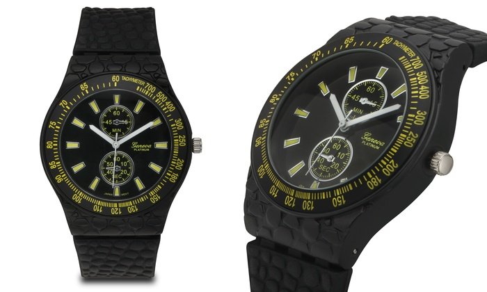 geneva guys Geneva watches are manufactured by the geneva watch group this organization was founded in 1974 and they produce clocks and watches that are similar to the timepieces created by the older universal geneve brand.