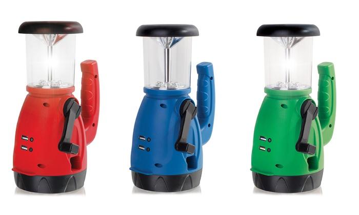 Dynamo LED Flashlight Lantern with Built-In USB Ports