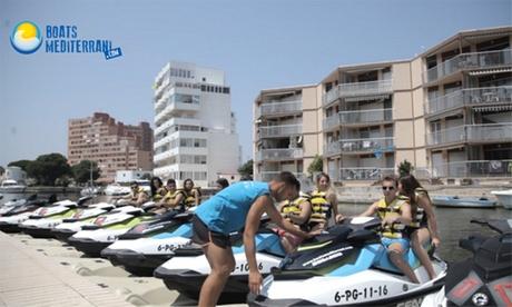 Excursión en moto de agua para 1 o 2 personas a Punta Figuerasa o al Cap de Creus desde 54 € en Boats Mediterrani Oferta en Groupon