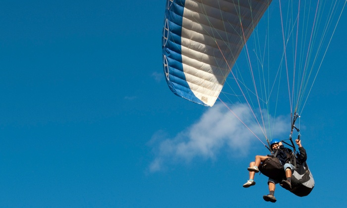 Enchanted Air Paragliding - North Albuquerque Acres: Tandem Paragliding Flight for One or Two at Enchanted Air Paragliding (Up to 50% Off)