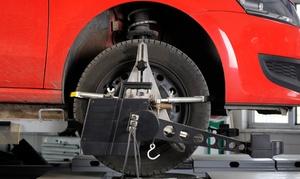 Bono Pneus - Unidade Valinhos: Bono Pneus – Valinhos: alinhamento dianteiro e balanceamento + rodízio de pneus + check-up de suspensão e freio e mais