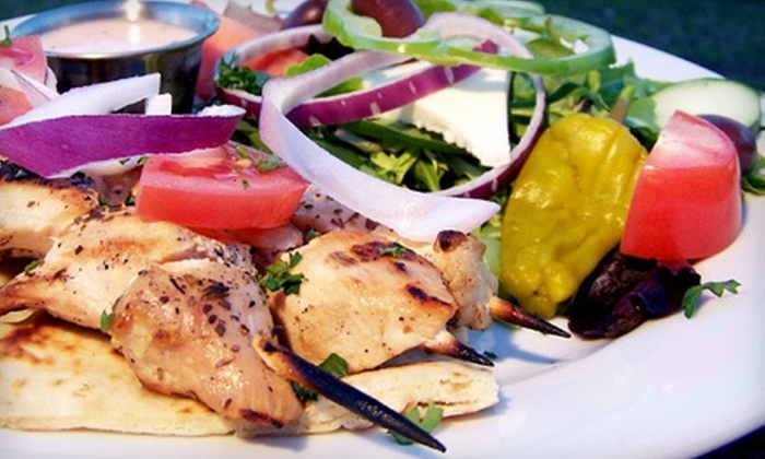 Mythos Greek Taverna - Largo: Greek Dinner and Drinks at Mythos Greek Taverna (Up to 53% Off). Two Options Available.
