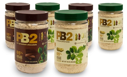 PB2 Powdered Peanut Butter; 6-Pack of 1lb. Jars + 5% Back in Groupon Bucks. Multiple Flavors Available.
