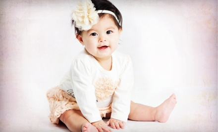 One, Two, or Three One-Hour Baby-Photo Sessions with Prints at Studio Art Maria (Up to 82% Off)