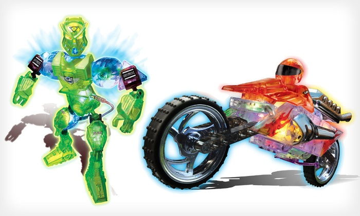 Cra-Z-Art Lite Brix Robot or Motorcycle Building Sets: Cra-Z-Art Lite Brix Robot or Motorcycle Building Sets (Up to 45% Off)