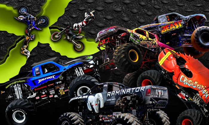 Monster X Tour - Mobile Civic Center: Monster X Monster-Truck Show with a Pit Pass on Friday, February 19, at 7:30 p.m.