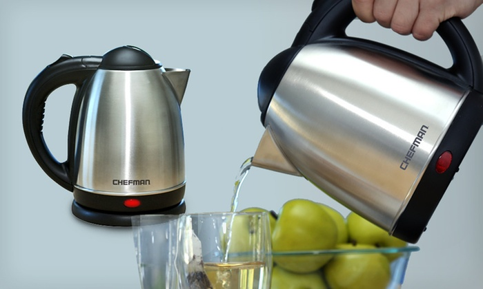 Chefman Cordless Electric Kettle: $24.99 for a Chefman Cordless Electric Kettle ($59.99 List Price). Free Shipping and Free Returns.