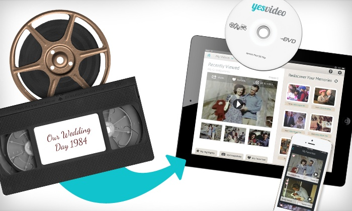 YesVideo: $19.99 for $60 Worth of DVD and Digital Conversion Services of VHS Tapes and Film Reels from YesVideo