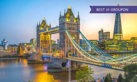 London: 2 Nights at 4* Hotel with Breakfast, River Cruise and Rail Tickets from Various Cities*